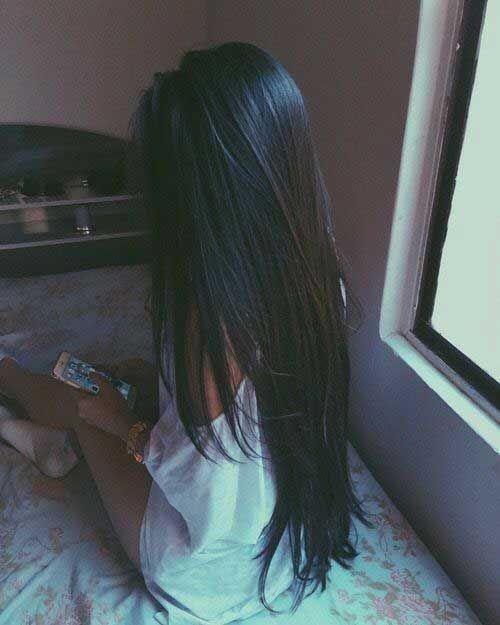 14.V-Form Lange Haarschnitt