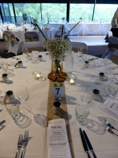 Simple rustic wedding in the Tamar room at Tailrace Centre