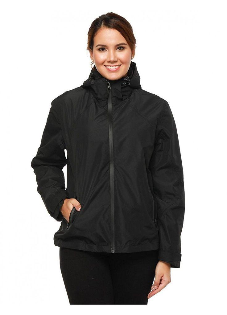 MIER Women's Waterproof Lightweight Rain Jacket with Hood Outdoor Raincoat for Hiking Trekking Camping Casual Wear #RaincoatsForWomenCasual #RaincoatsForWomenHoods