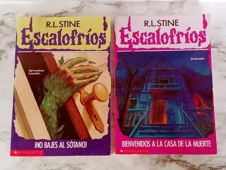 Lot 2 ESCALOSFRIOS Spanish Goosebumps Paperback Books RL Stine Bajes Casa Muerte