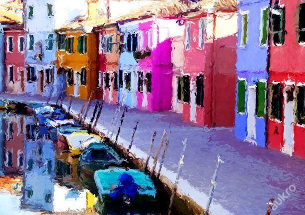 Obraz Colored Houses - styl Imprese
