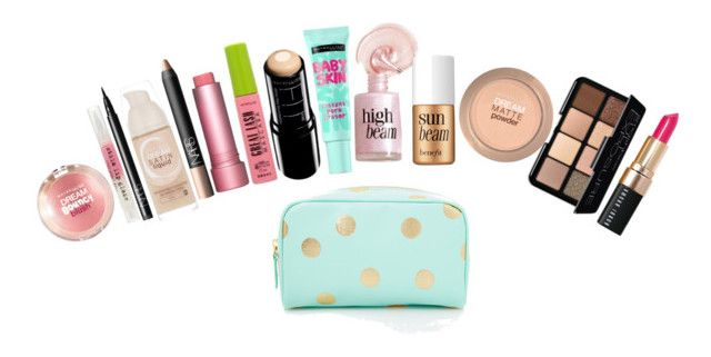 """""""What's In My Makeup Bag?"""" by sweetprep101 ❤ liked on Polyvore featuring beauty, Forever 21, Maybelline, NARS Cosmetics, Fresh, Benefit, Stila, Smashbox and Bobbi Brown Cosmetics"""