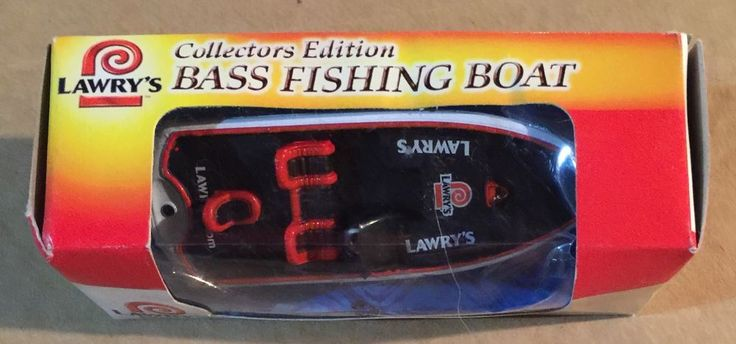 Lawry's Bass Fishing Boat 1 64 Die Cast Collectors Edition New in Box   eBay
