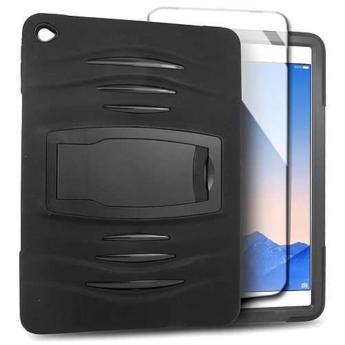 New Black Skin Hybrid Case For Apple iPad Air 2 & Built-in Screen Protector #UnbrandedGeneric only 16.99