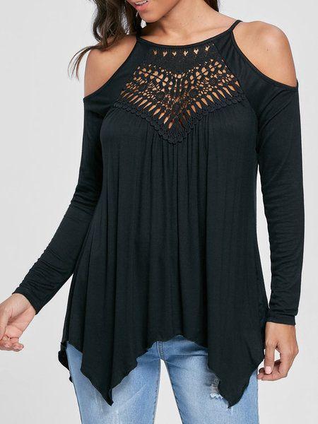 Shop Women s Tops - Wine Red Sexy Off Shoulder Plain Polyester T-Shirt  online. Discover unique designers fashion at JustFashionNow.com. bcae98c4e