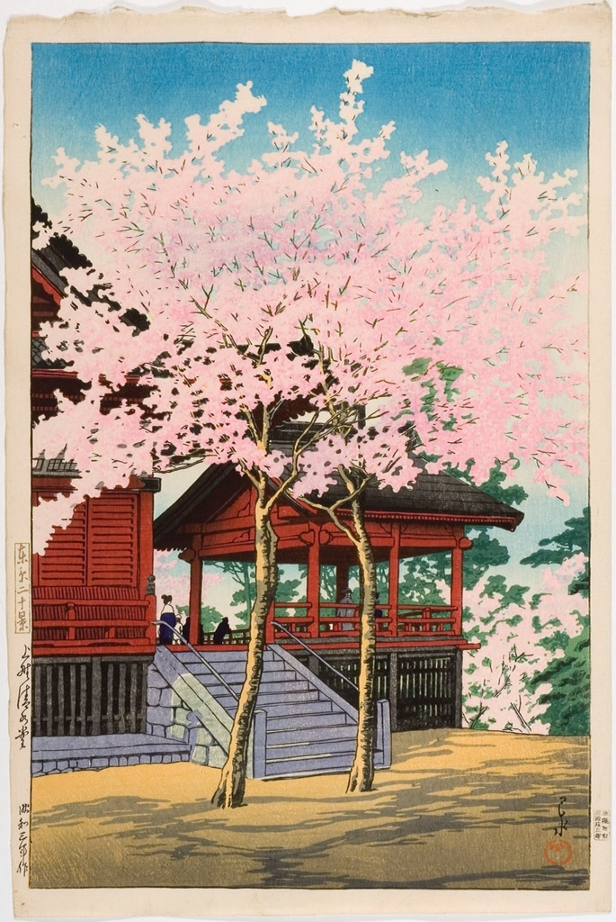 Kawase Hasui 1883 1957 Ueno Kiyomizudo Temple 1928