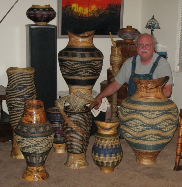 Jerry Maxey - works of art with his wood turnings.