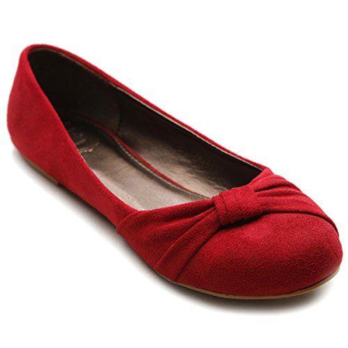Ollio Women's Shoe Ballet Faux Suede…