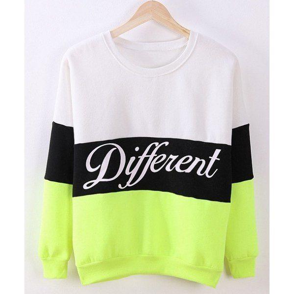 Flocking #Sweatshirt #Neon TrendsGal.Com