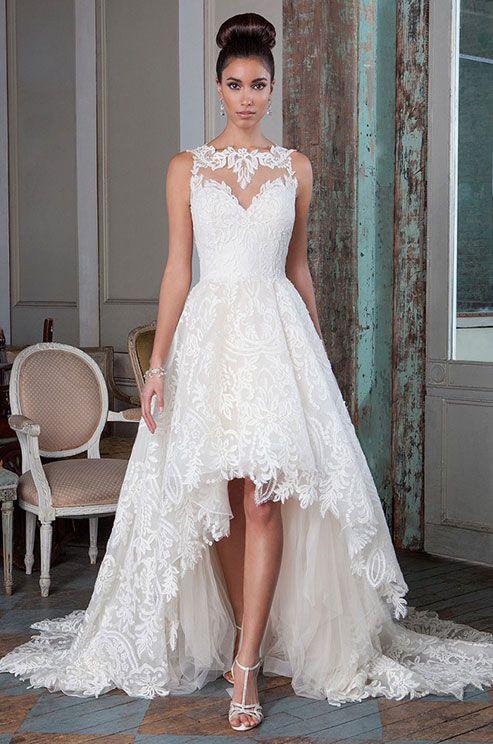 128 best bridal hi-low gowns images on pinterest | short wedding