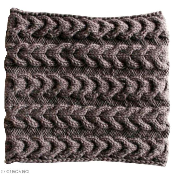 Tuto   Tricoter un snood à torsades inversées - Fiche technique Crochet et  tricot pas à ce1858286a6