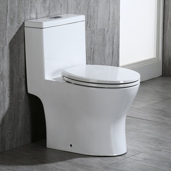 Dual Flush Elongated One Piece Toilet Seat Included Toilet For Small Bathroom Small Toilet Modern Toilet