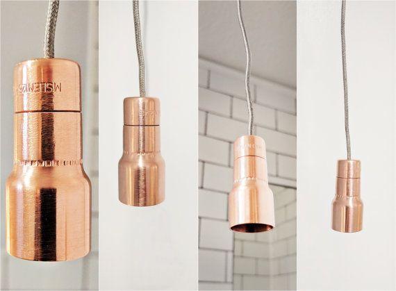 Vintage Metallic Copper Bathroom Light Pull