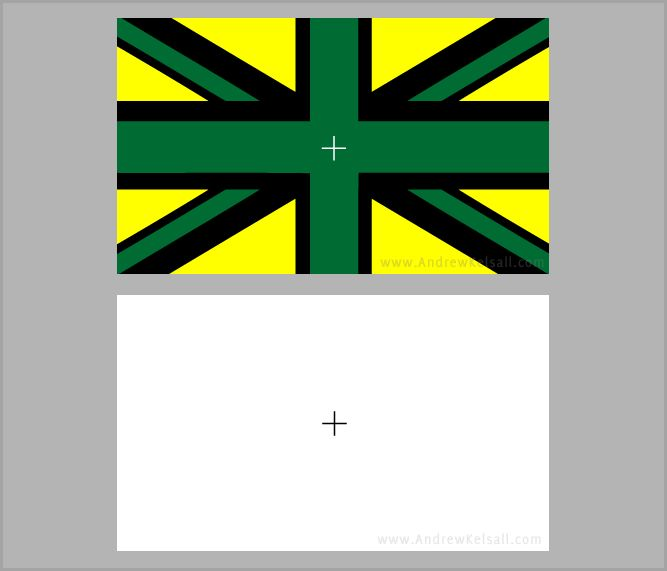contrast flag successive effect cross yellow union jack illusion eyes stare optical then illusions amazing colors simultaneous colour eye andrewkelsall