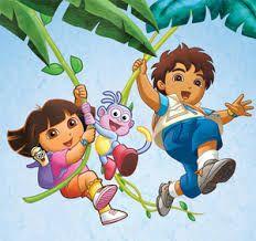 Dora en Diego speurtocht voor de kleintjes! Zie de Activitheek voor de volledige download.