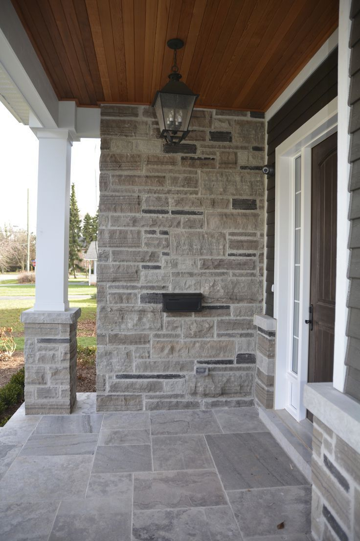 101 Resources - Stacked Stone Tile House | Exterior wall ...