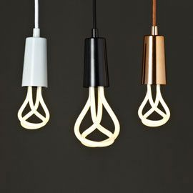 Plumen 001 Bulb and Drop Cap Pendant Set. Three next - maybe in three different colours?