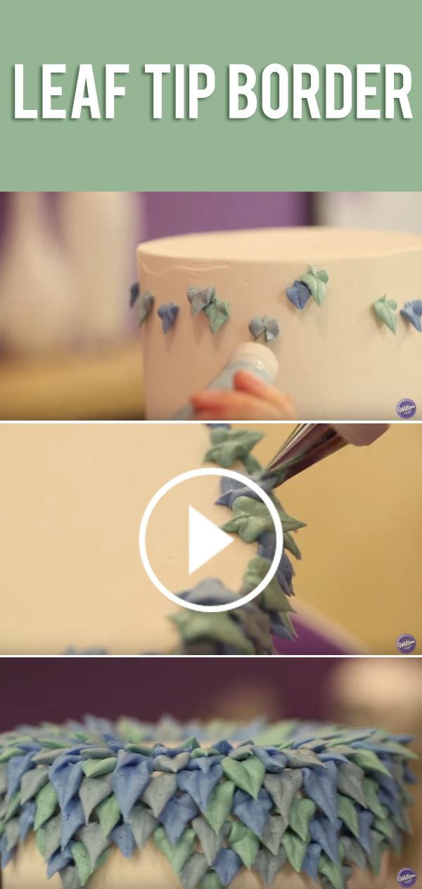 Learn an easy cake decorating technique and bring your buttercream creation to life using only the leaf tip — adding pops of color and instant drama.