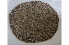 Stone Natural felt ball rug