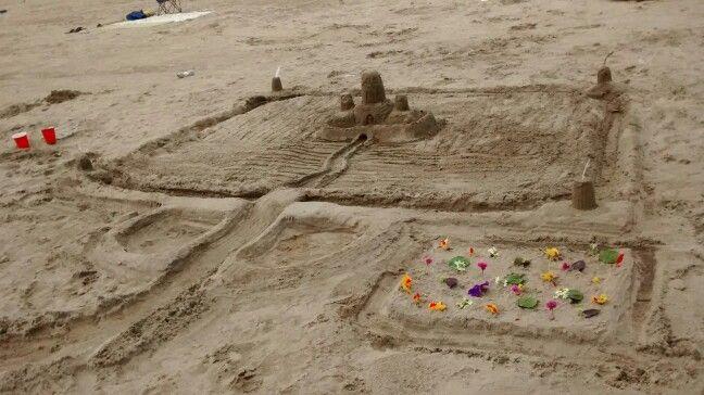 Funnest time building a sand castle