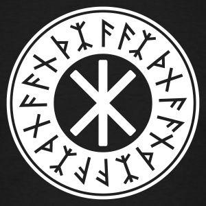 Schwarz Odin's Schutz Symbol No.1_1C T-Shirts