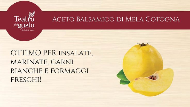 Aceto Balsamico di Mela Cotogna http://goo.gl/IBSjuV
