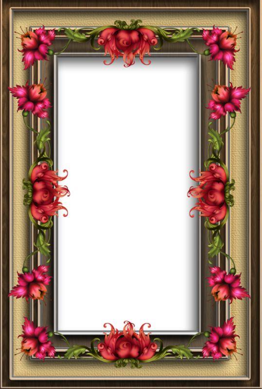 Цветочная рамка для открытки - Рамки для фото