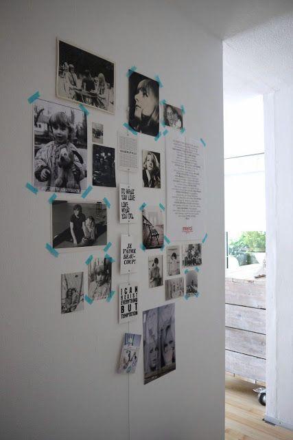Inspirational wall, masking tape, black & white // vosgesparis