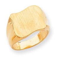 14k Men's Signet Ring RS485