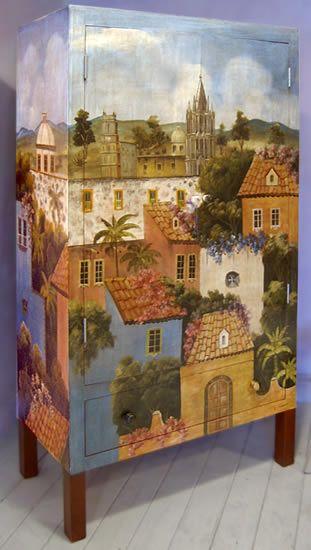 tengo un mueble así tal ves lo cambie a esta nueva dea A fabulous armoire - San Miguel de Allende