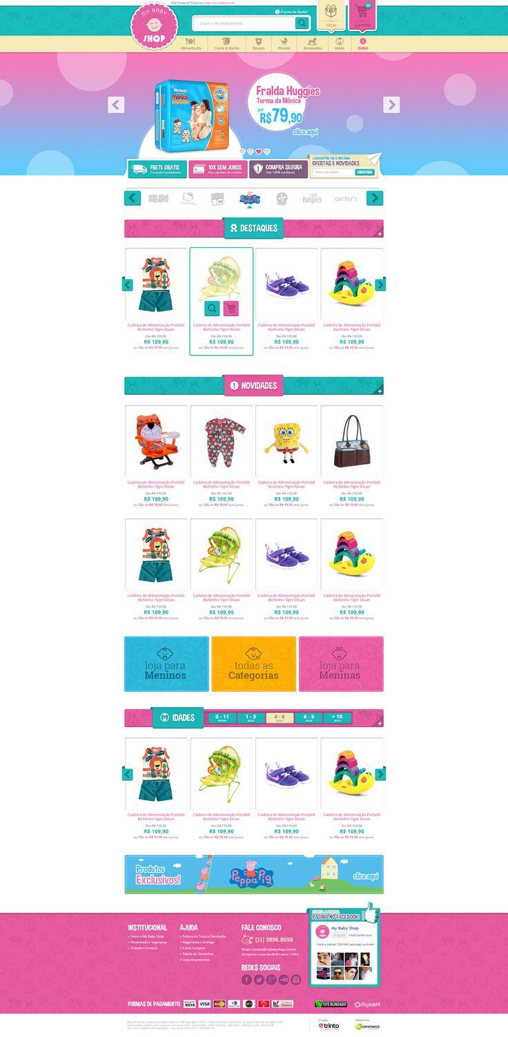 Layout da home, desenvolvida para o cliente My Baby Shop.   Splashbox desenvolvida para a loja virtual do cliente Sul Games.  Direção de Arte: ALEXANDRE R. Agência: TRINTO