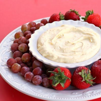 Orange Creamsicle Fruit Dip (lighten it up with fat-free Cool-Whip and and non-fat pudding)