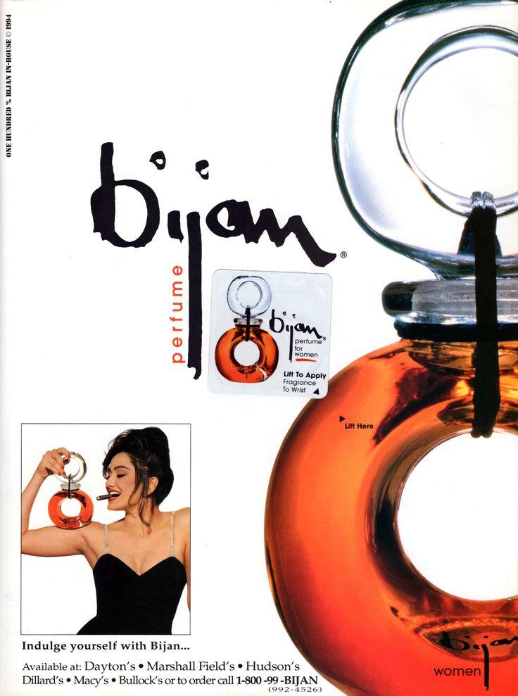 Vintage 1994 Bijan perfume ad