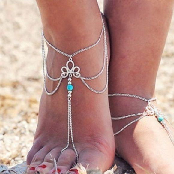 Barefoot sandal ankle bracelet NWT Barefoot sandal ankle bracelet NWT Mahako's mermaids Jewelry