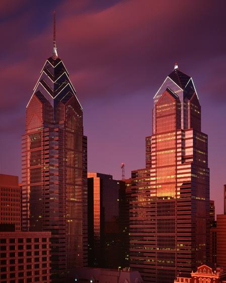 Two Liberty Place.  Philadelphia PA - 848ft.