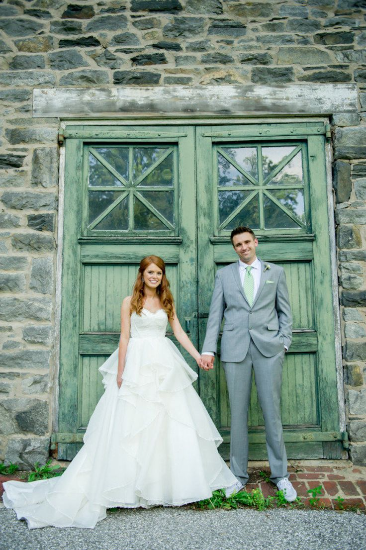 Jordan + Adam's wedding featured a gorgeous green palette and suits from Men's Wearhouse. Find the look that's right for you and get $40 off each custom suit or tux rental plus more perks at Men's Wearhouse.