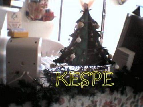 arbol de fieltro navideño doble