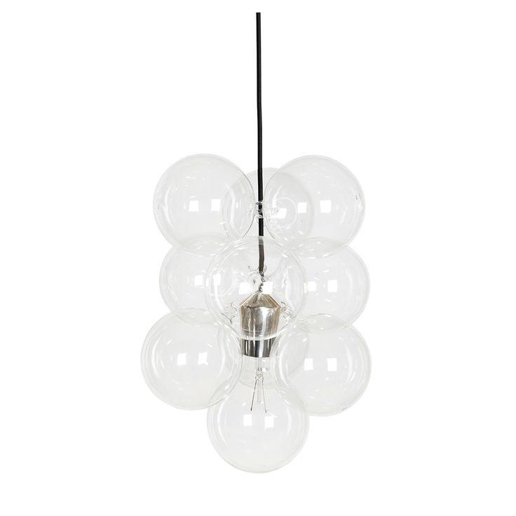 """Lampa wisząca DIY, czyli """"Zrób to sam"""" marki House Doctor została złożona z 12 szklanych"""