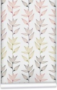 Striated Leaves - living room wall, available in different colours