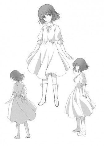 Как рисовать  девочку в платье