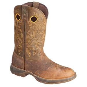 Durango Rebel Saddle Western Boots for Men - Dark Brown - 10.5 W