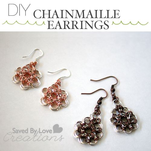Make Lovely Chain Maille Earrings