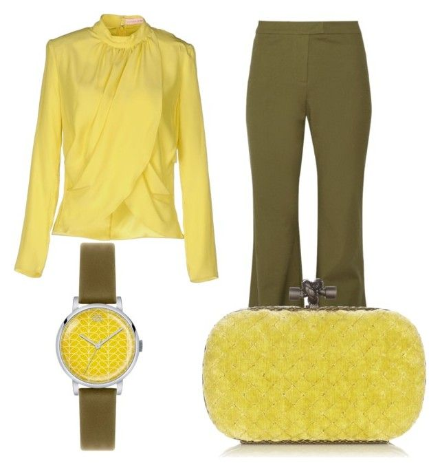"""olive and yellow"" by yueji ❤ liked on Polyvore featuring Orla Kiely, Matthew Williamson, 10 Crosby Derek Lam and Bottega Veneta"