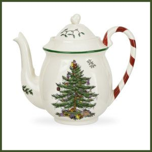 Spode Christmas Tree Candy Cane Teapots This is an Earthenware teapot.  Dishwasher safe; Microwave safe. http://theceramicchefknives.com/ceramic-tea-pots-christmas-theme-tea-pots/