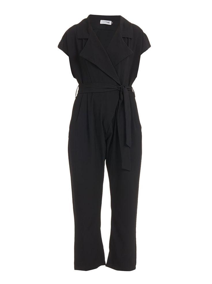 Crepe Jumpsuit Black