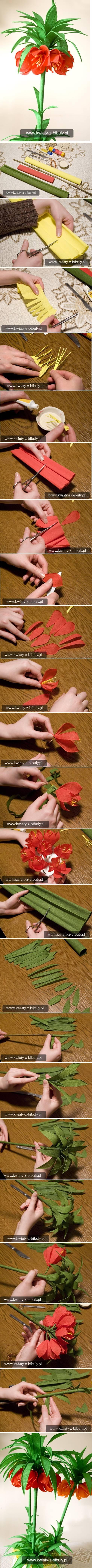 DIY Tutorial: DIY crepe paper flowers / DIY Pretty Crepe Paper Flower - Bead&Cord