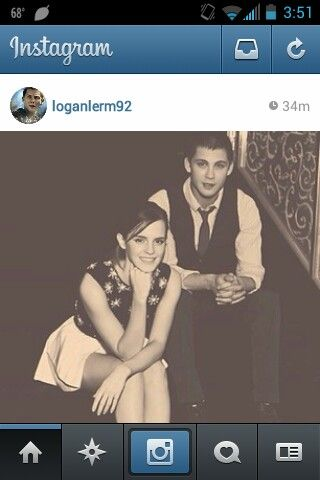Emma and Logan Lermen. From his instagram