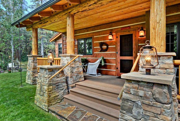 Cabin Craftsman Log House Plan 43212