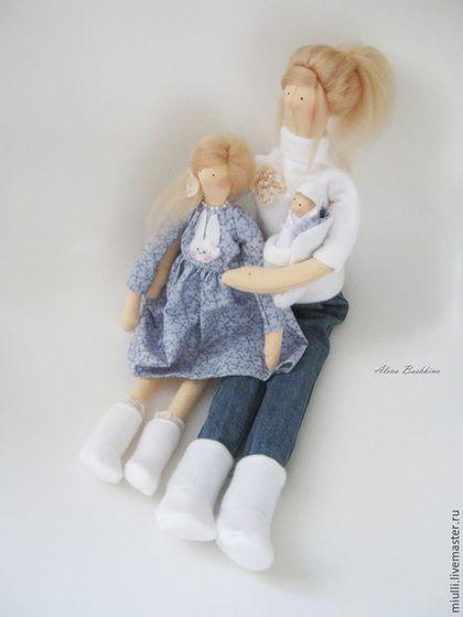 """Куклы Тильды ручной работы. Тильда  """"Дорогая мамочка, я так люблю тебя!"""". Alena Bashkina. Интернет-магазин Ярмарка Мастеров."""
