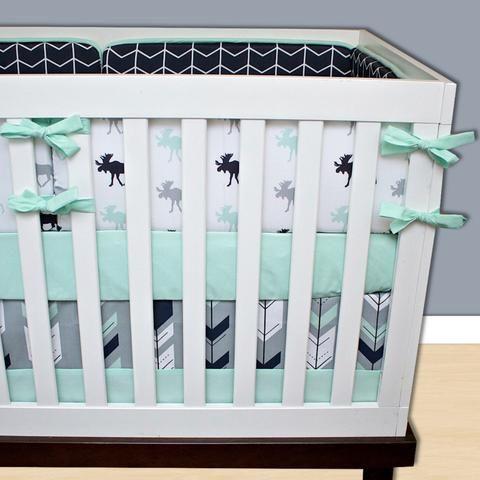 Mint Nursery Decor   Moose Nursery Decor   Forest Nursery Decor - Modified Tot